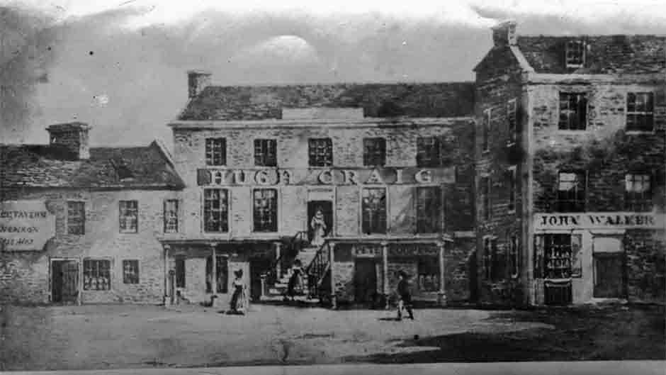 old picture of first john walker shop