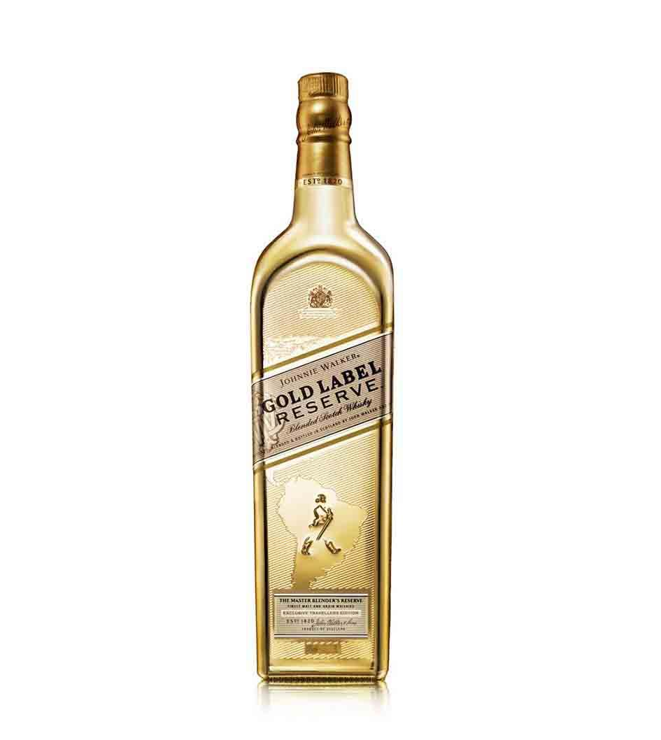 Botella de whisky Johnnie Walker Gold Label Reserve Edición Limitada