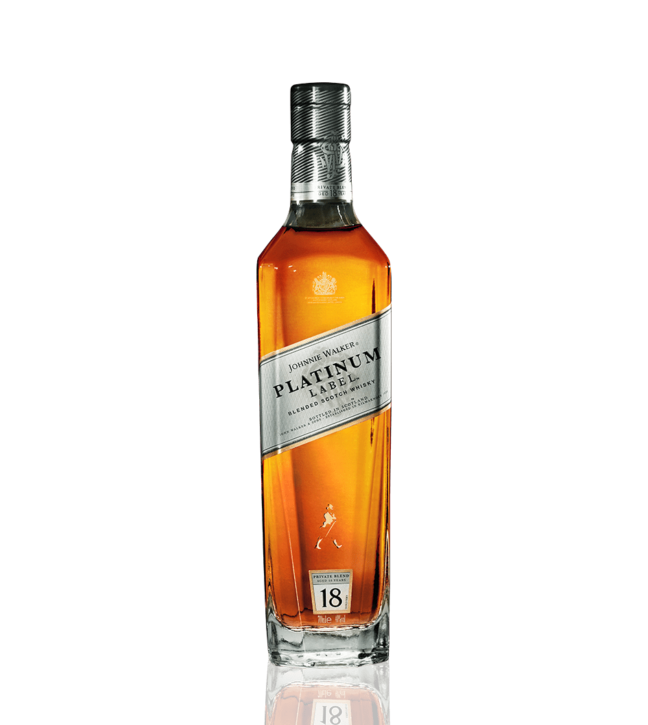 Botella de whisky Johnnie Walker Platinum 18 años