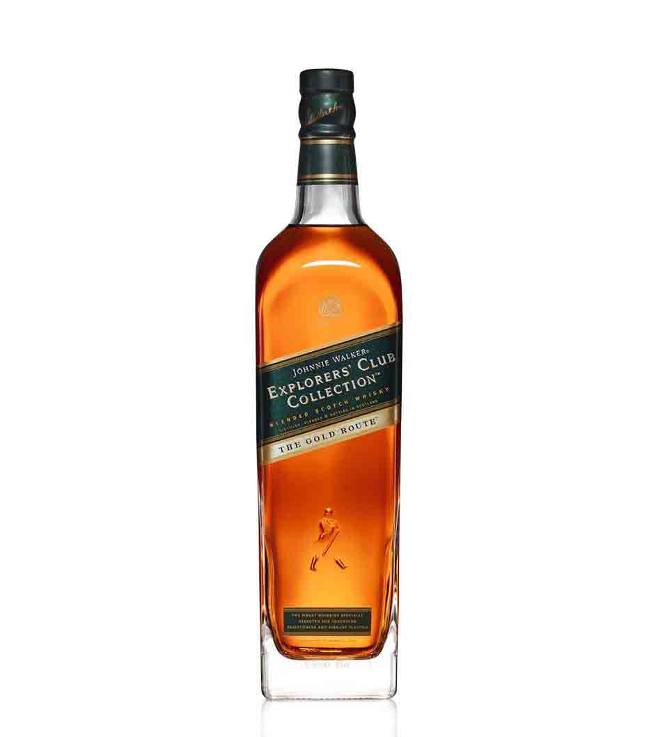 Botella de whisky Johnnie Walker Explorers' Club Collection - The Gold Route