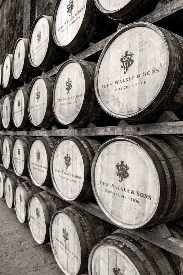 Casks of John Walker & Sons Private Collection