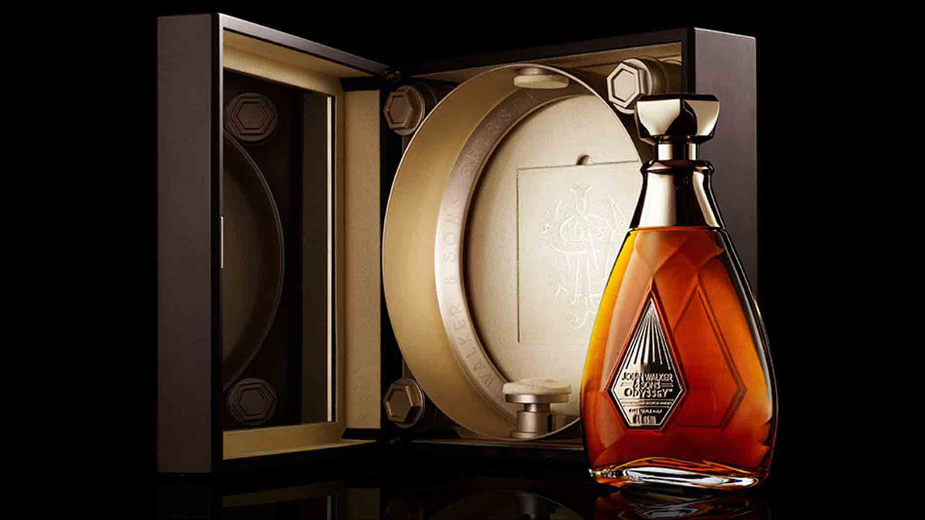 Gift pack of John Walker & Sons Odyssey whisky