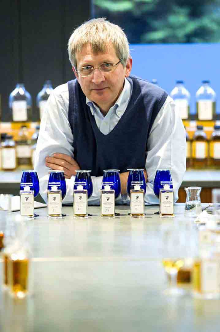 Jim Beveridge and tasting samples