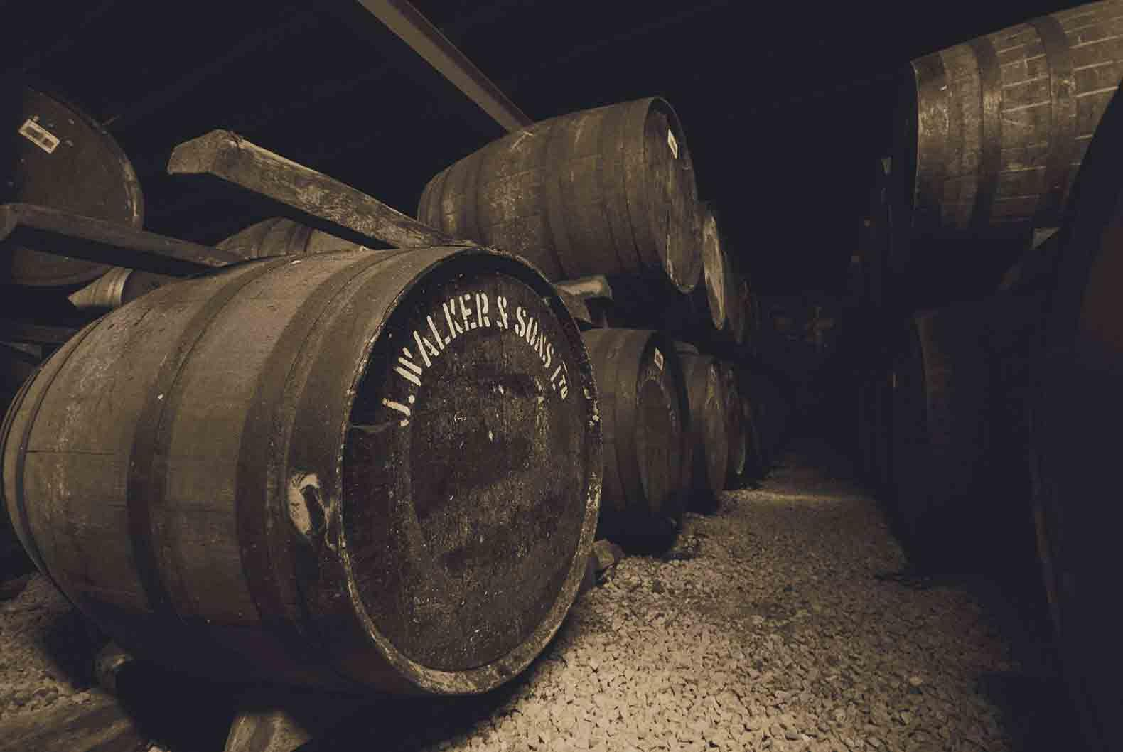 Johnnie Walker whisky casks
