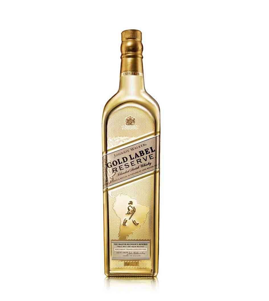 Bottle of Johnnie Walker Gold Label Reserve Limited Edition whisky