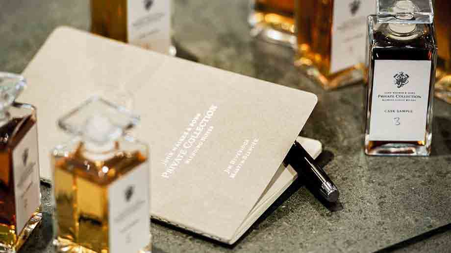 Booklet of John Walker & Sons Private Collection Blending Notes