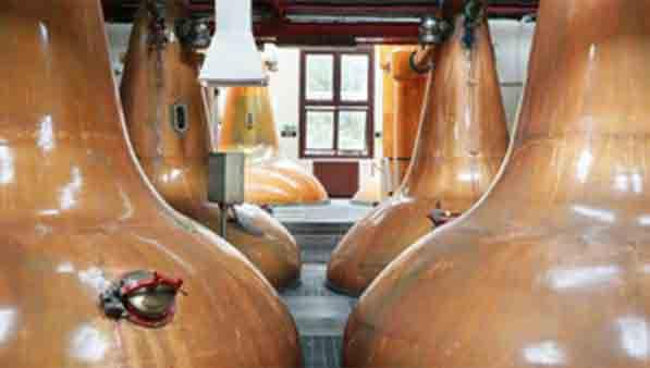A room of copper stills