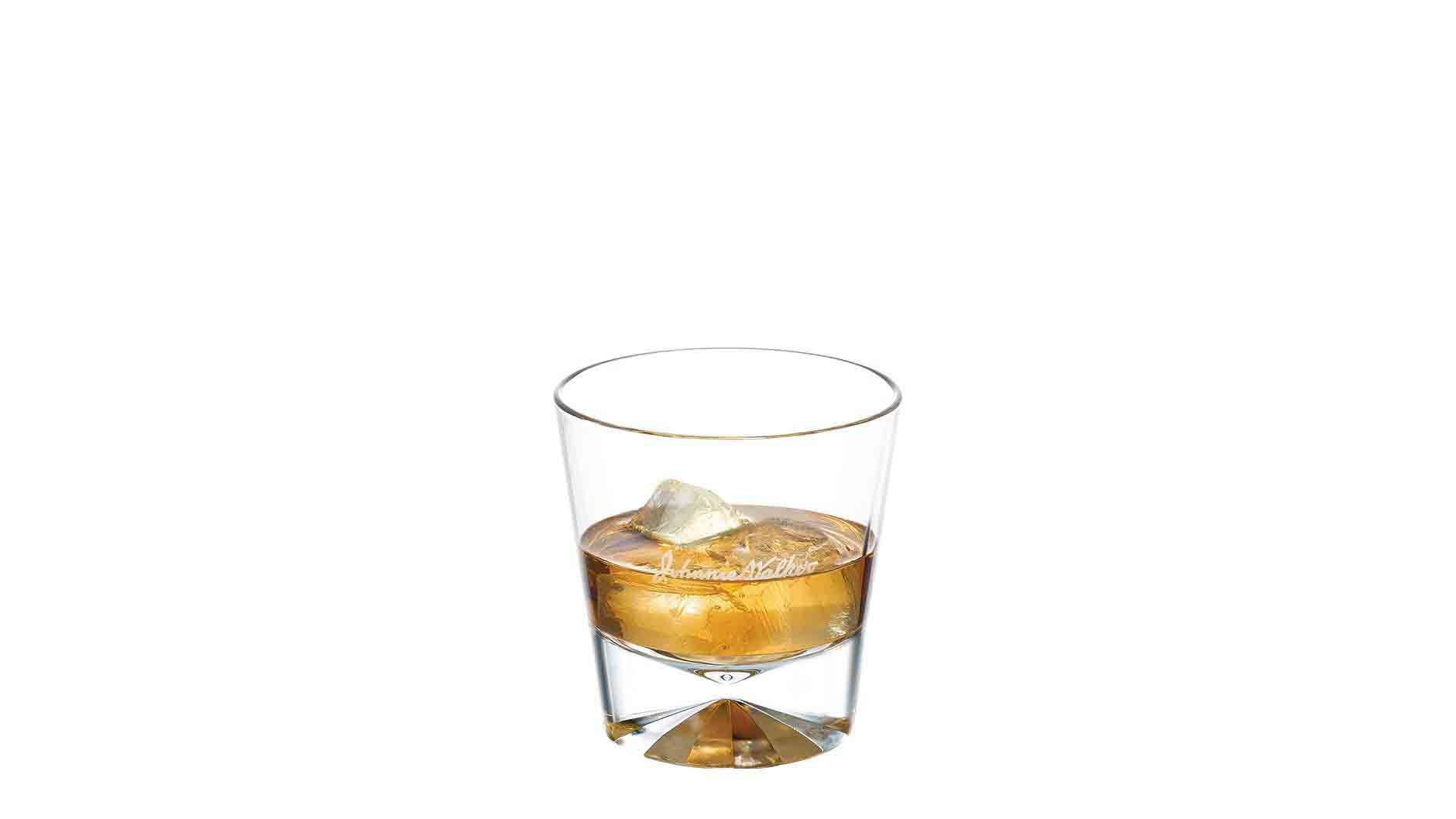 Johnnie Walker Black Label on the Rocks in a tumbler
