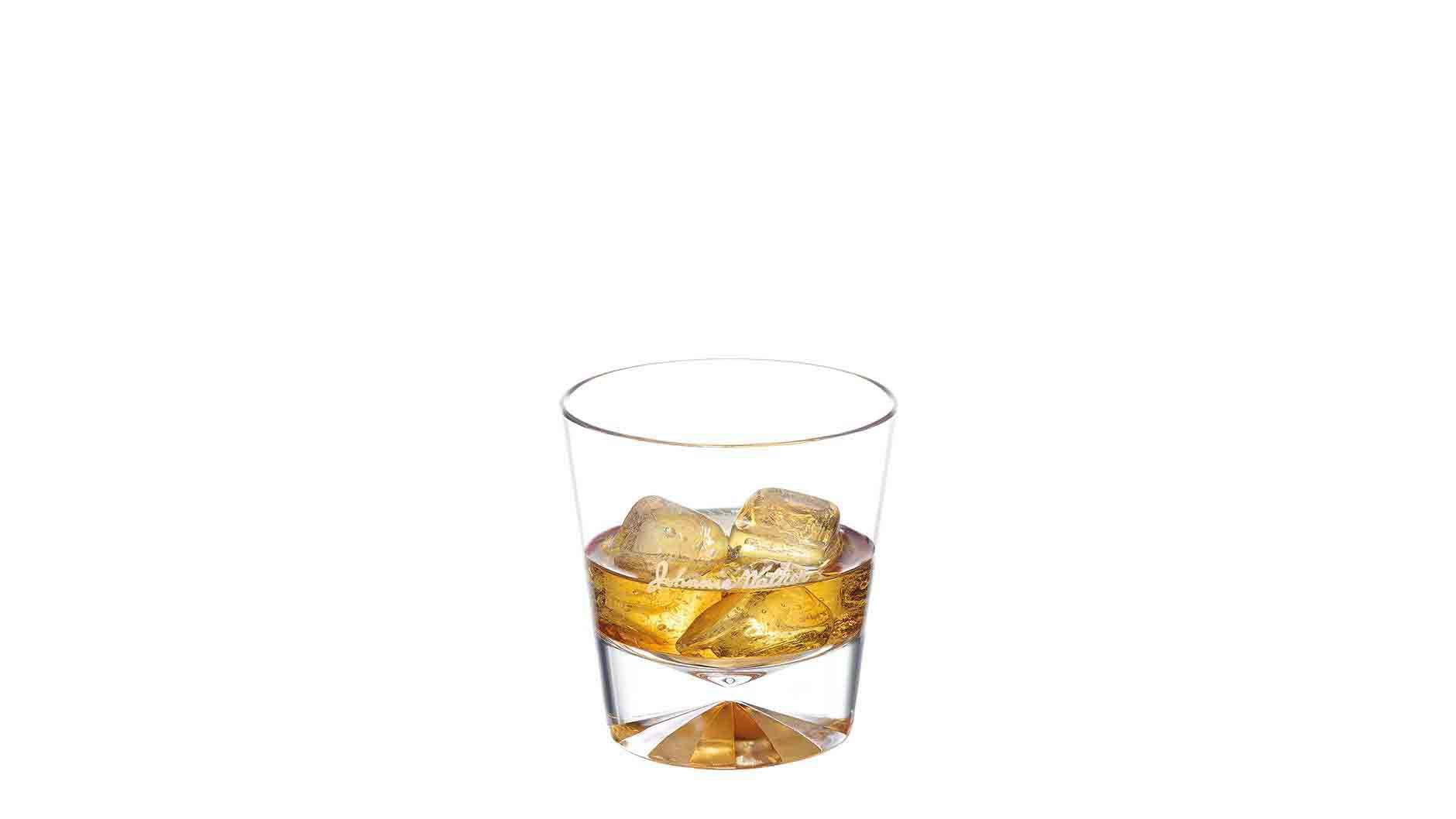 Johnnie Walker Double Black on the Rocks in a tumbler