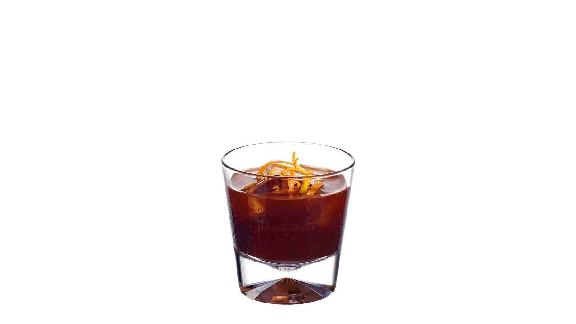 Johnnie Walker Platinum Label Dark Side cocktail in a tumbler