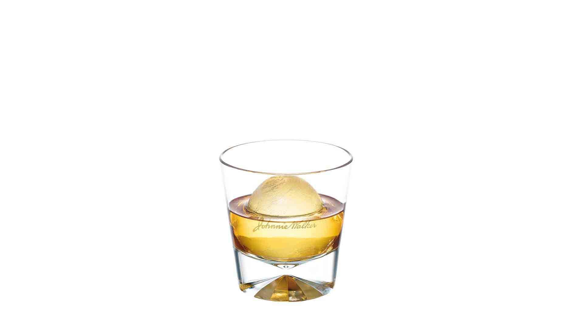 Johnnie Walker Red on the Rocks in a tumbler
