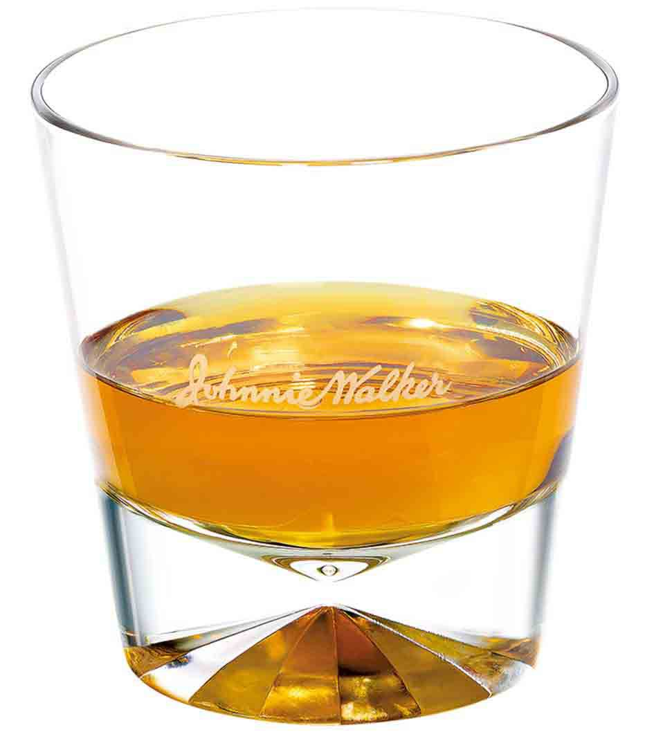 Johnnie Walker Black Neat in a tumbler