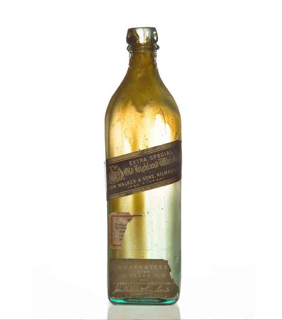 Botella antigua de whisky Extra Special Old Highland