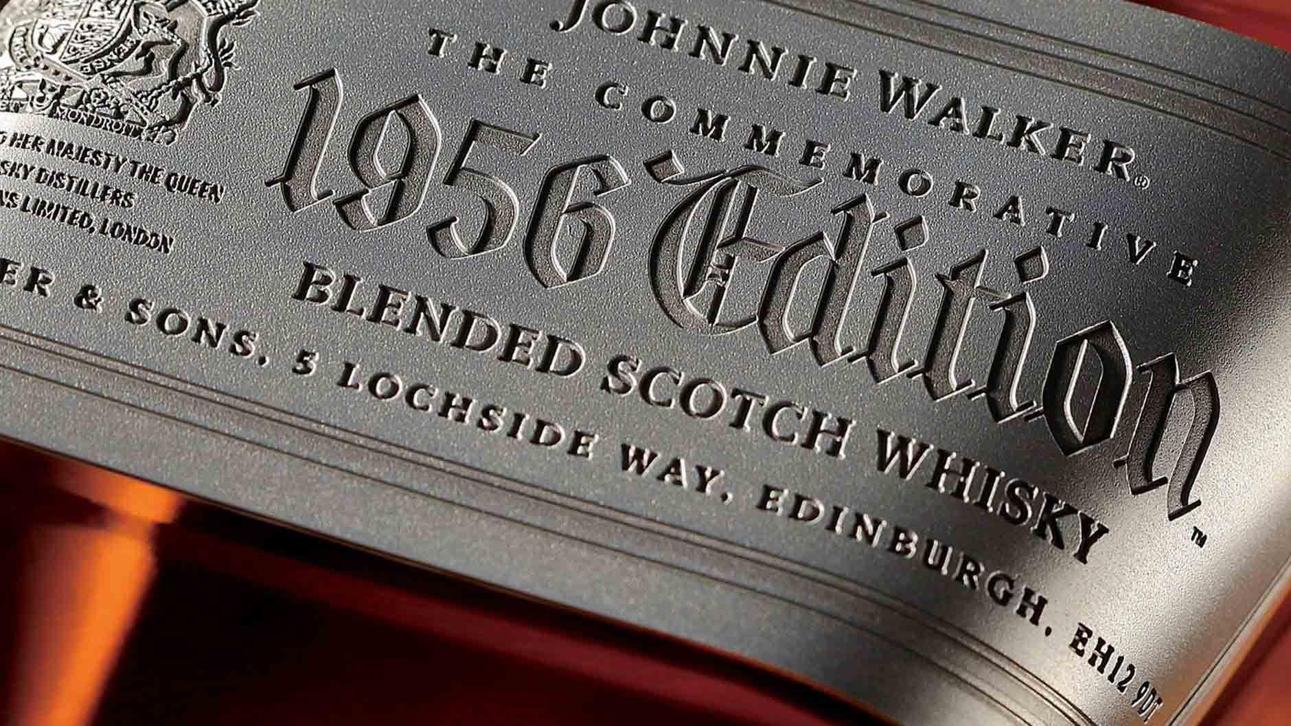 Label of Johnnie Walker The Commemorative 1956 Edition Blended Scotch Whisky