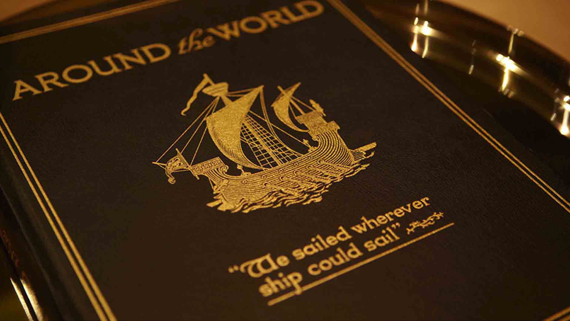 Aournd the world, we sailed wherever ship could sail book