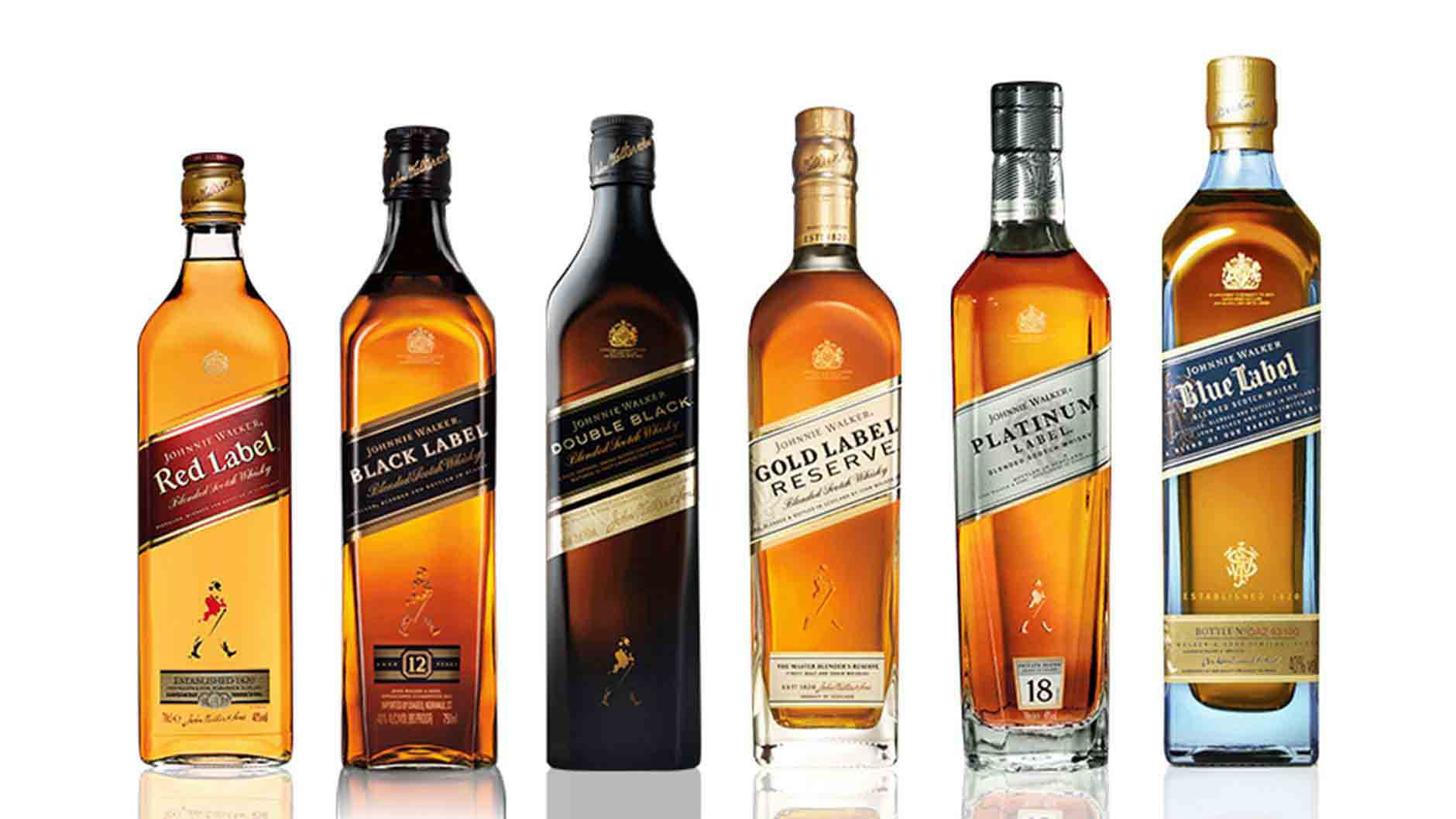 Bottle of Johnnie Walker Colour whisky range