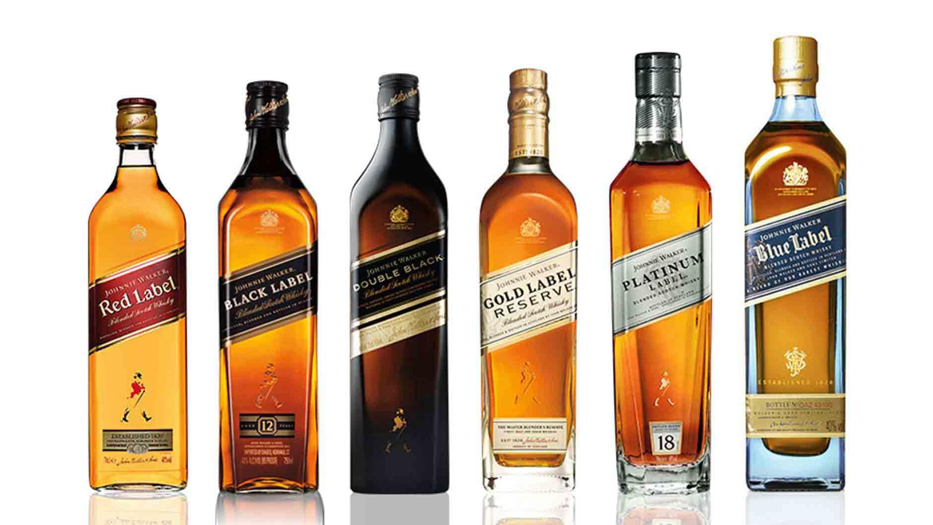 Bouteille de whisky de la gamme Johnnie Walker Colour