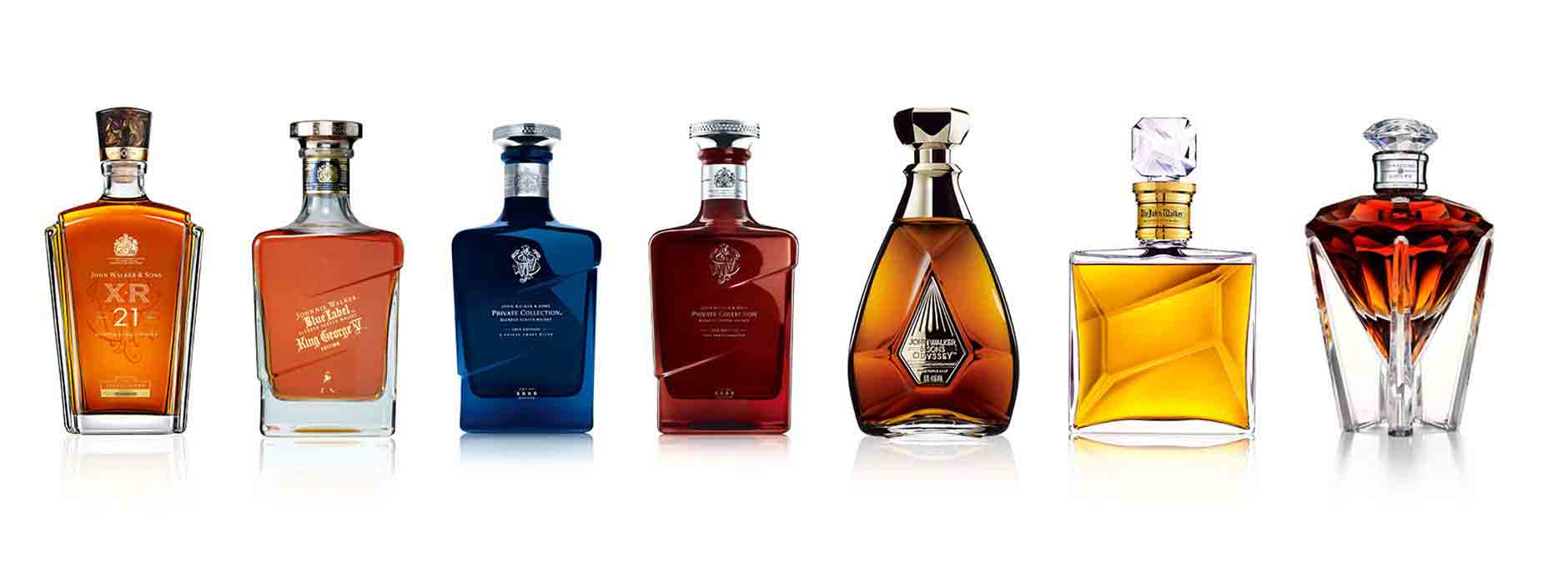 Flessen John Walker & Sons whisky-assortiment