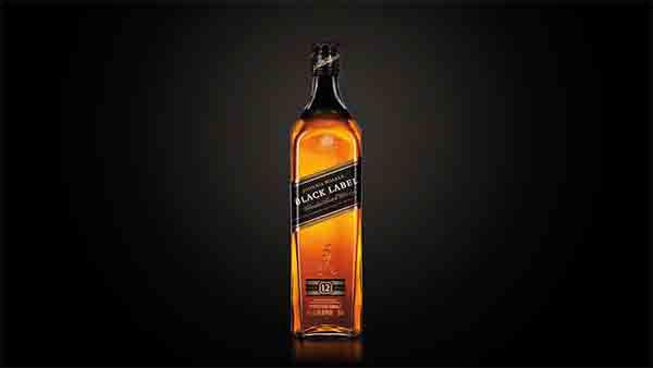Bottle of Johnnie Walker Black Label whisky