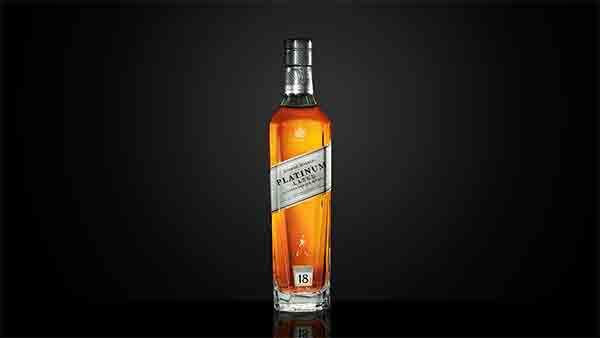Bottle of Johnnie Walker Platinum 18 Year Old whisky