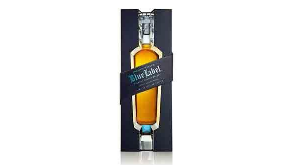 Bottle of Johnnie Walker Blue Label Limited Edition whisky