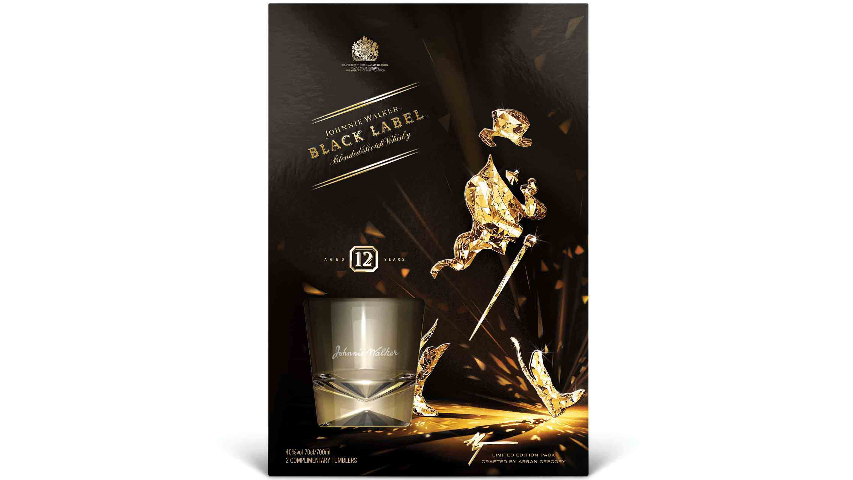 Pack de Johnnie Walker Black Label Limited Edition diseñado por Arran Gregory
