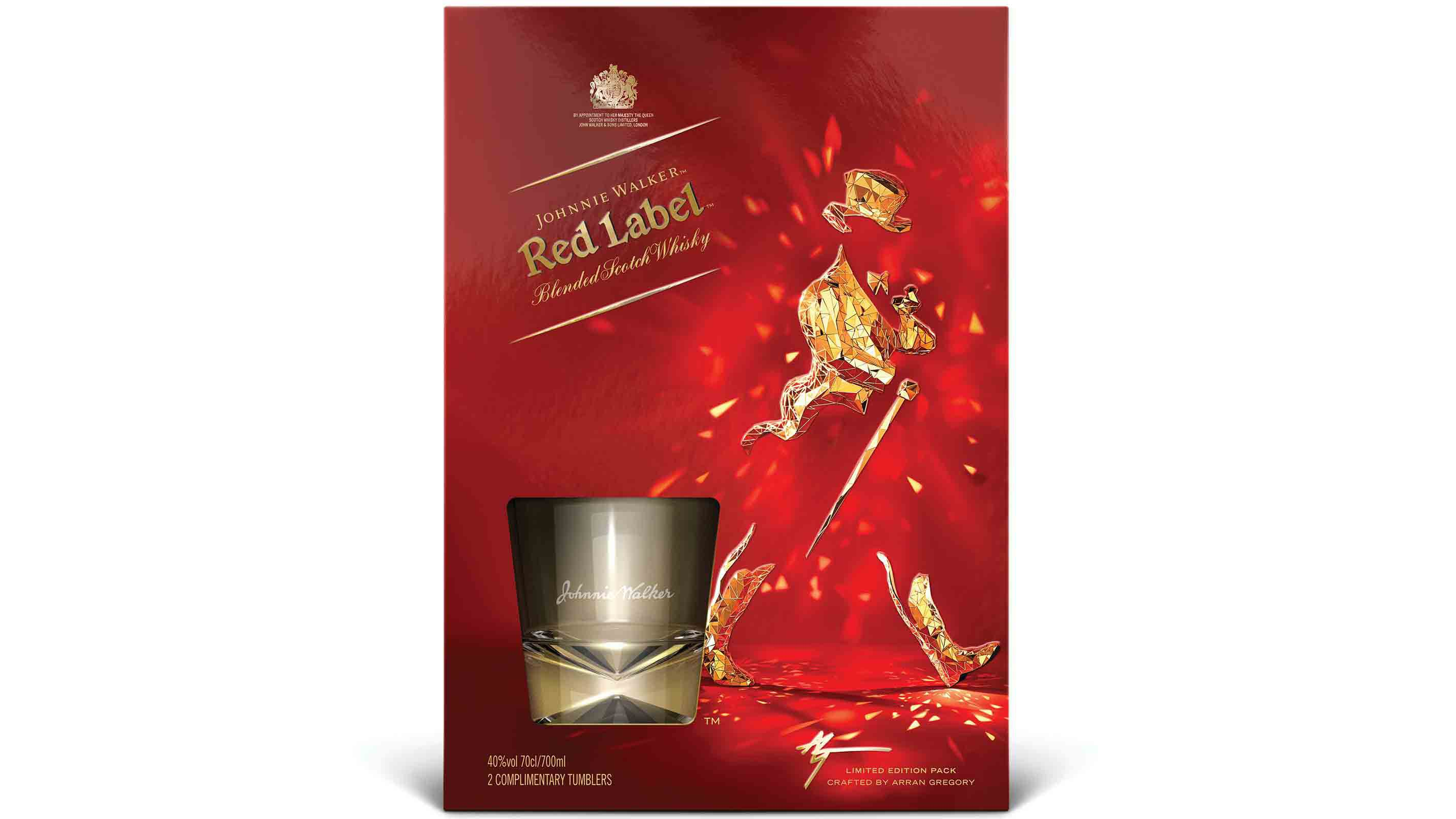 Pack de Johnnie Walker Red Label Limited Edition diseñado por Arran Gregory