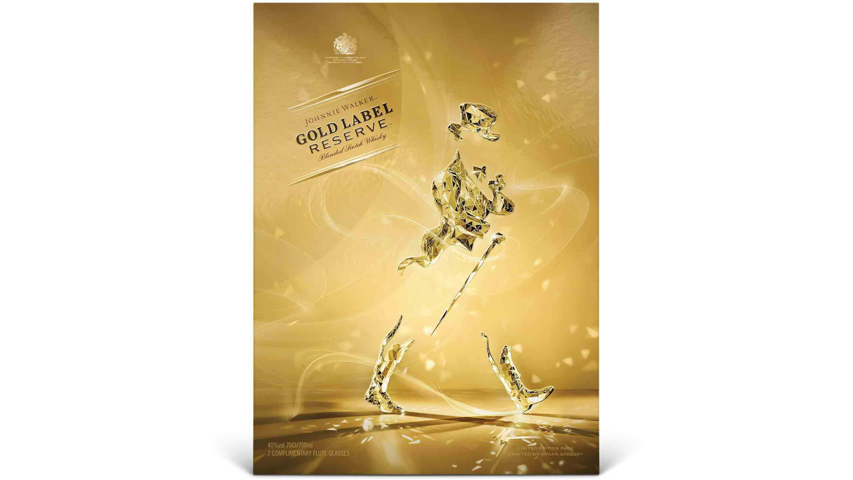 Pack de Johnnie Walker Gold Label Reserve Limited Edition diseñado por Arran Gregory