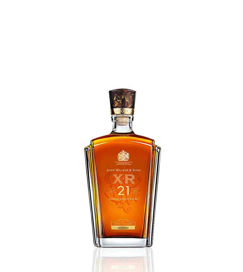Bottle of John Walker & Sons XR 21 whisky