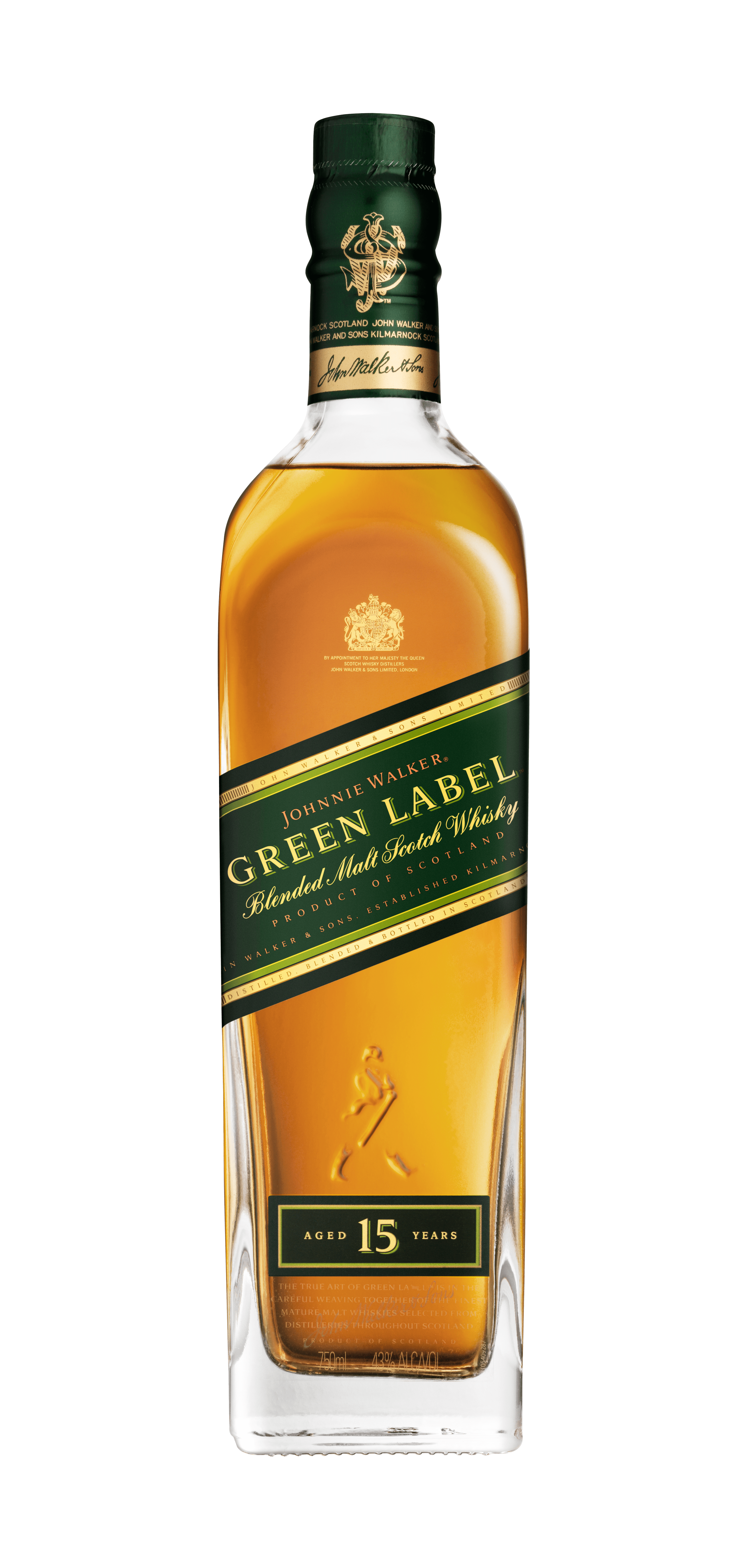 750ml JWGL bottle front isolated