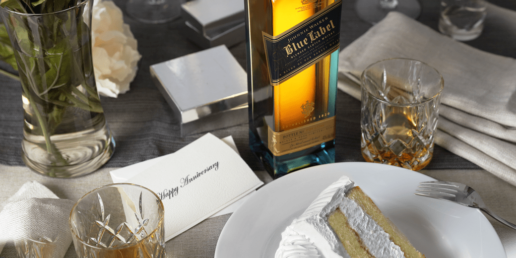 Wedding Anniversary Johnnie Walker  Scotch Whisky Gifts