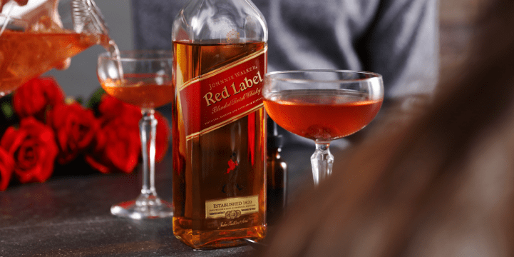 Valentine's Day Johnnie Walker Scotch Whisky Gift
