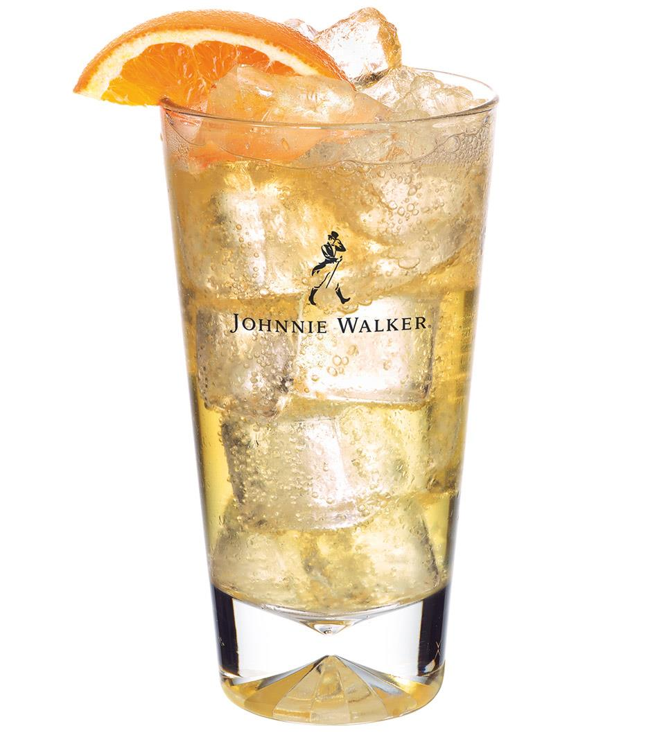 johnnie walker red and soda large