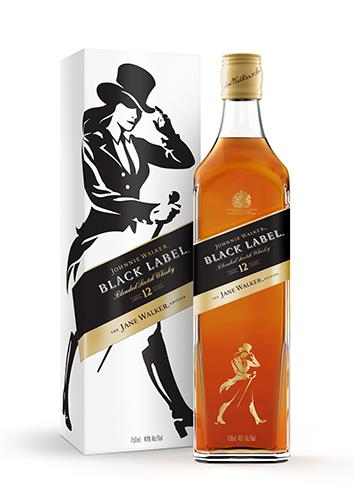 Johnnie Walker Black Label the Jane Walker Edition – Jane Walker Whisky Bottle & Box Package